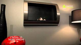 This wall mount, gracefully curved Chelsea model of the Anywhere Fireplace™ has sleek contemporary design that will make a...