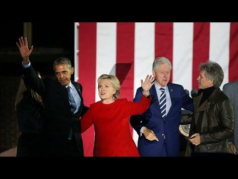 ΗΠΑ: Με Μπαράκ και Μισέλ Ομπάμα η εμφάνιση Χίλαρι στην Φιλαδέλφεια – null