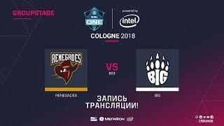 Renegades vs BIG - ESL One Cologne 2018 - map1 - de_dust2 [Anishared, SSW]