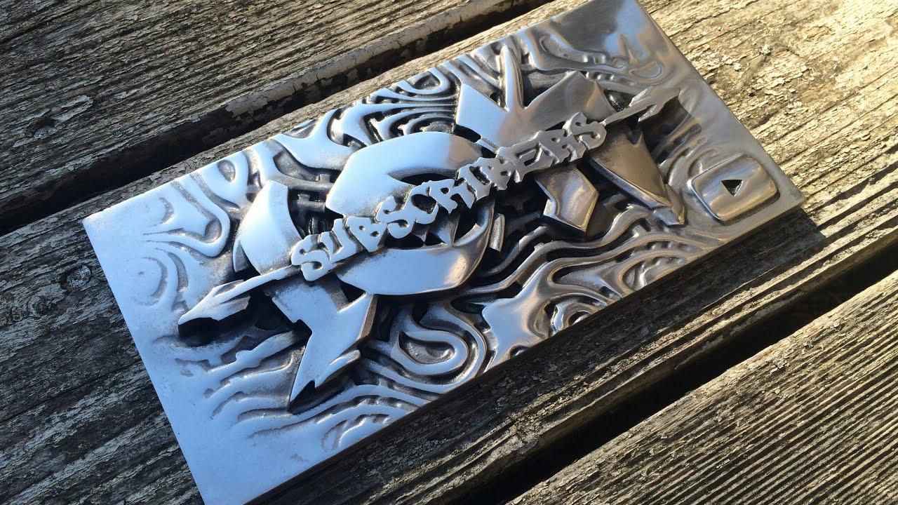 Aluminum 10K plaque