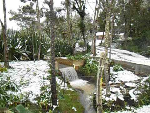 Neve em Fluviópolis no Paraná - Rio Claro do Sul-PR - São Mateus do Sul-PR