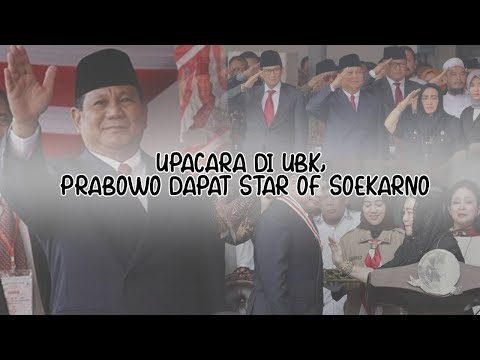 #VLOGNEWS: Upacara di UBK, Prabowo Dapat Star of Soekarno