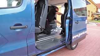Podlahový systém M1 + Multifunkční sedadla 003 ve voze OPEL Vivaro B