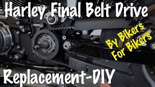 6. How To Remove & Replace Final Belt Drive on Harley-Davidson-Motorcycle Biker Podcast