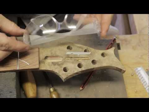 basic inlay technique part 2 - recessing the cavity and gluing in the new guitar inlay