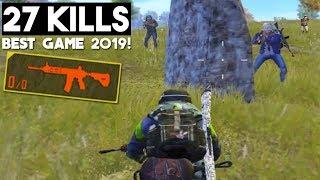Video I WON 1 vs 4 WITH NO AMMO! | 27 KILLS Solo vs Squad | PUBG Mobile MP3, 3GP, MP4, WEBM, AVI, FLV Maret 2019
