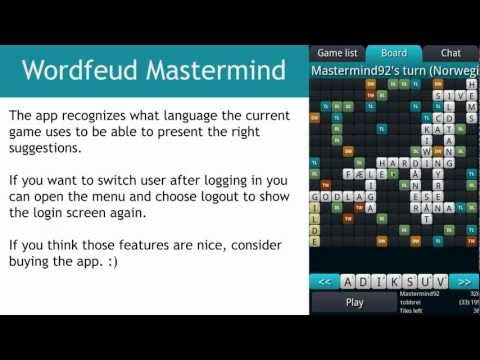 Video of Wordfeud Mastermind