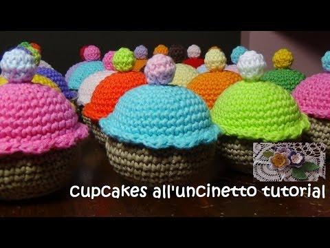 uncinetto - bomboniera a forma di cupcake