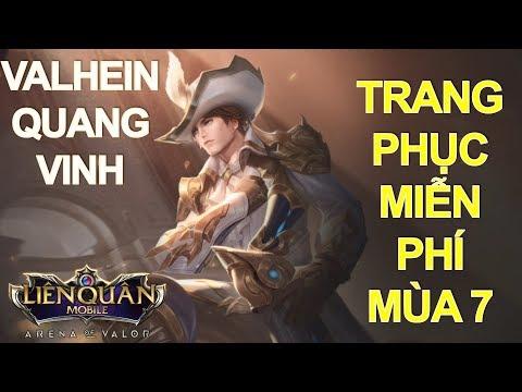 Trang phục miễn phí mùa 7: VALHEIN Quang Vinh - Soái ca Free cho anh em Liên quân mobile