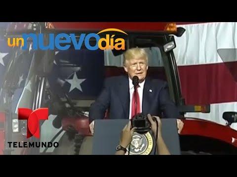 Notícias dos famosos - ¡Donald Trump anunció un nuevo plan de inmigración!  Un Nuevo Día  Telemundo
