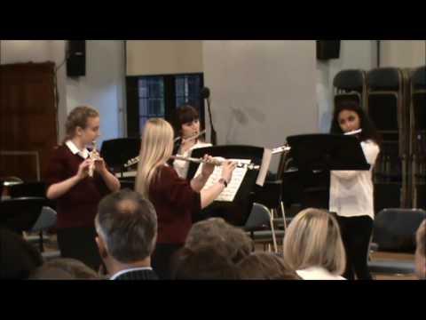 Scherzo (Midsummer Night's Dream) - Girls' Division Flute Quartet (May Serenade 2017)