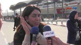 وصول النجمة نجاة رجوي لمطار الدار البيضاء the voice najat rajoui