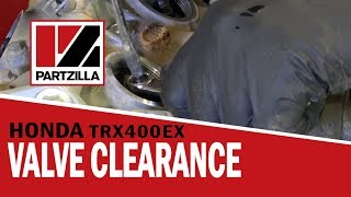4. Honda ATV Valve Clearance Adjustment on TRX 400EX | Partzilla.com
