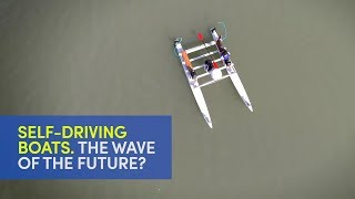 Self-driving boats video