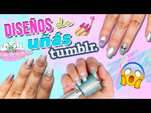 Diseños de uñas - DIY DISEÑOS TUMBLR Y FÁCILES PARA TUS UÑAS  Jimena Aguilar