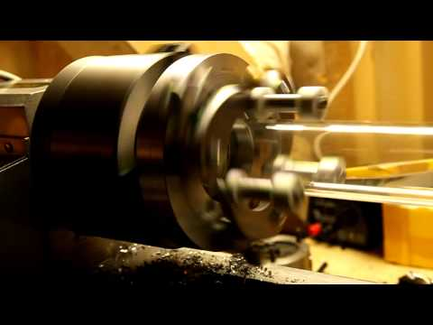 Glass lathe chuck test II