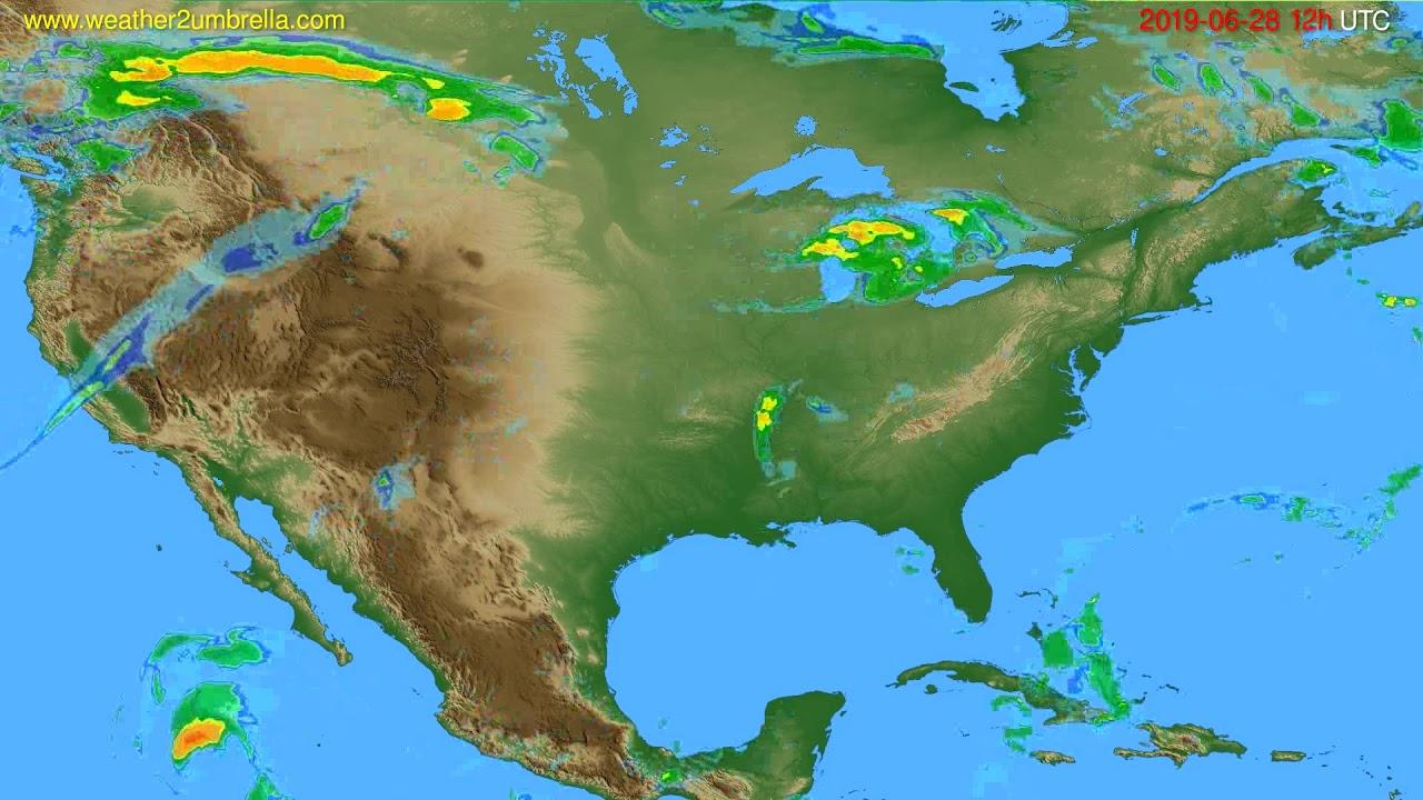 Radar forecast USA & Canada // modelrun: 00h UTC 2019-06-28