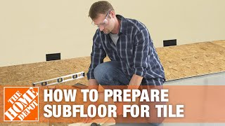 Preparing Subfloor for Tile