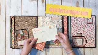 Hello everyone! Today I want to share the project that I created from the April Scrapbooking store.com kit. This collection just screamed Recipe Folio so that's what I made.Here's the link to scrapbookingstore.comhttps://www.scrapbookingstore.com