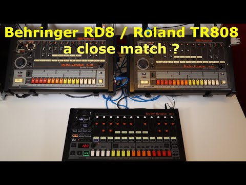 Behringer RD-8 and Roland TR-808, a close match?