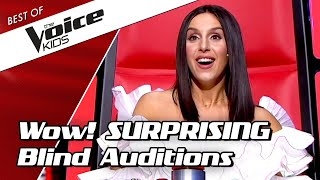 Video TOP 10 | SURPRISING BLIND AUDITIONS in The Voice Kids PART 2 MP3, 3GP, MP4, WEBM, AVI, FLV September 2019