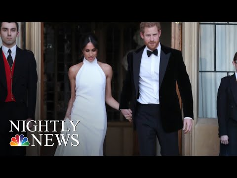 Prince Harry And Meghan Markle Celebrate With Private Reception After Wedding | NBC Nightly News (видео)