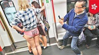 No Pants Subway Ride 2014 in Hong Kong