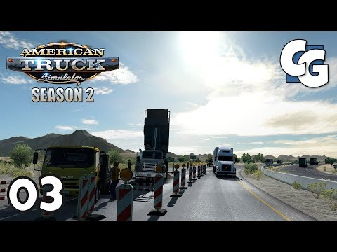 ATS S02E03 - Random Road Works - American Truck Simulator Let's Play