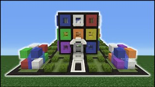 Minecraft Tutorial: How To Make A Rubiks Cube House Interior/Exterior (Inside/Outside)