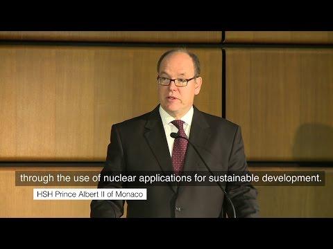S.A.S. le Prince Albert II au Forum de l'AIEA