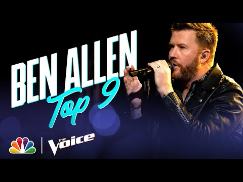"Ben Allen Sings Coach Blake Shelton's ""All About Tonight"" - The Voice Live Top 9 Performances 2020"