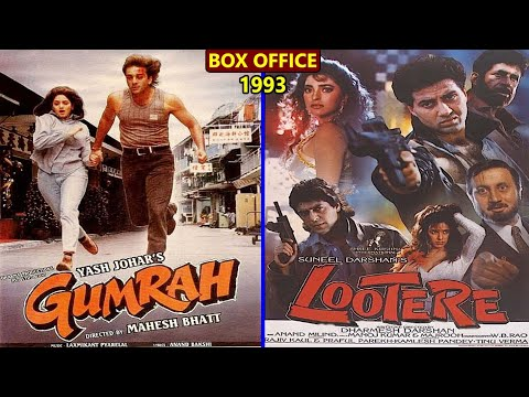 Gumrah vs Lootere 1993 Movie Budget, Box Office Collection, Verdict and Facts | Sunny Deol