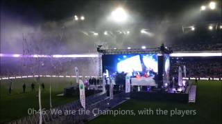 Charleroi - Anderlecht: Anderlecht win the 34th title. Timeline of all events in the Vanden Stock Stadium (big screen and celebrations)