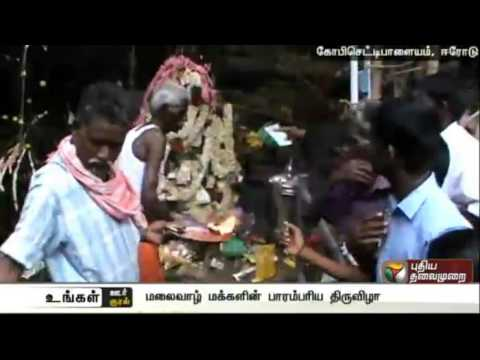 Tribal-people-celebrate-traditional-festival-at-Gobichettipalayam