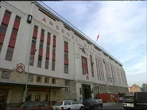 Footage On The Outside Of Arsenal Football Stadium | Thames News Archive Footage