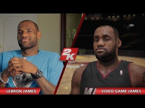 0 NBA2K14 Reveal   LeBron James and Video Game James