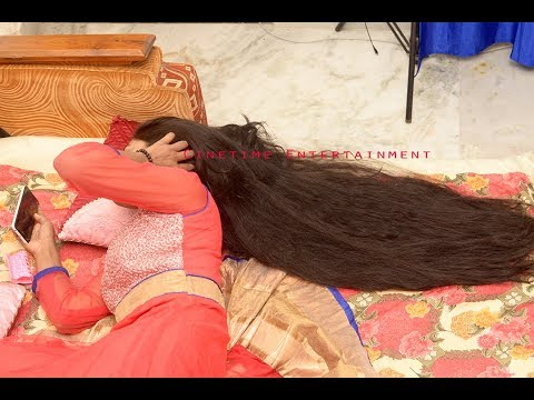 Sensational Priya Playing With Her Long Hair On Bed Lovingly