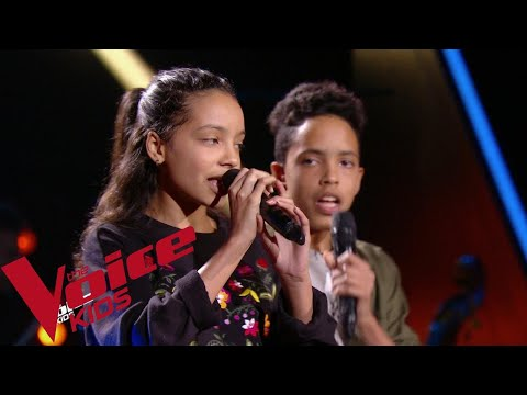 Katy Perry - Chain to the rhythm | Camila et Zion Luna | The Voice Kids France 2018 | Blind...