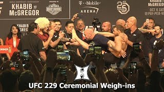 Video UFC 229: Khabib Nurmagomedov vs Conor McGregor Ceremonial Weigh-ins MP3, 3GP, MP4, WEBM, AVI, FLV Juni 2019