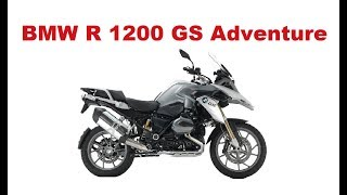 4. The Best Adventure Motorcycles - BMW R 1200 GS  Adventure 2017 - Test & Review