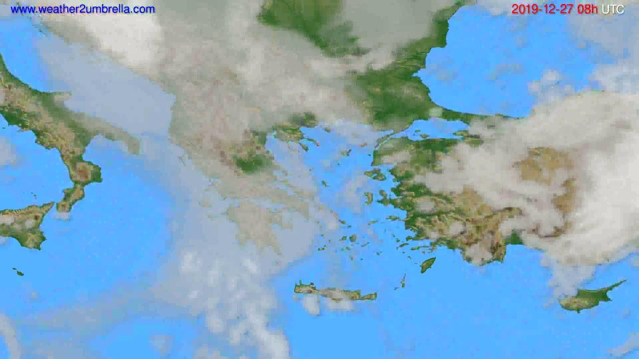 Cloud forecast Greece // modelrun: 12h UTC 2019-12-26