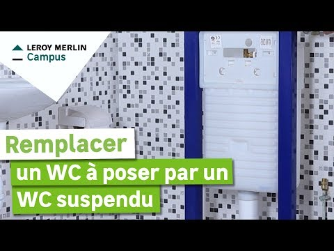 comment monter wc suspendu