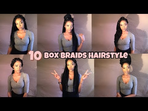 Braid hairstyles - 10 BOX BRAIDS HAIRSTYLES 2018  CHARMAINE MG