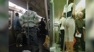 Приколы в метро. Странные и необычные люди в метро