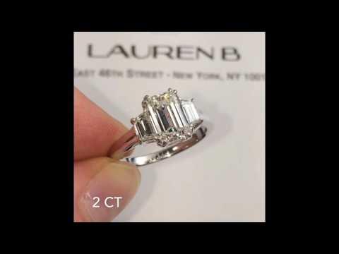 2 carat Emerald Cut 3-Stone Engagement Ring
