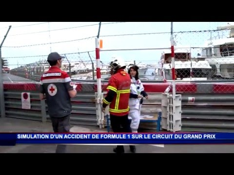 Monaco simulates serious accident during Formula 1 Grand Prix
