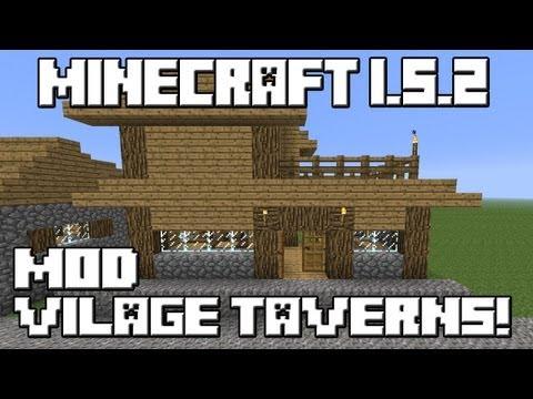 Minecraft 1.5.2 MOD VILLAGE TAVERNS!