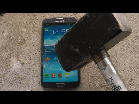 Samsung Galaxy Note 2 Review – Hammer Drop Test