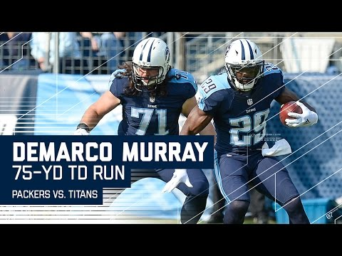 Video: DeMarco Murray's Amazing 75-Yard TD Run! | Packers vs. Titans | NFL