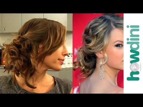 Messy updo hairstyles: How to do Taylor Swift's messy side swept updo look